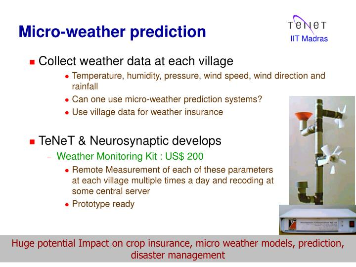 Micro-weather prediction