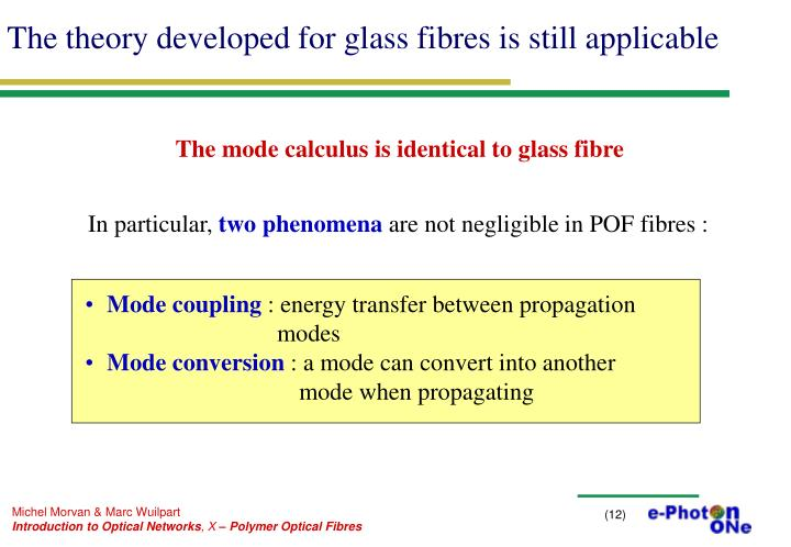 The theory developed for glass fibres is still applicable