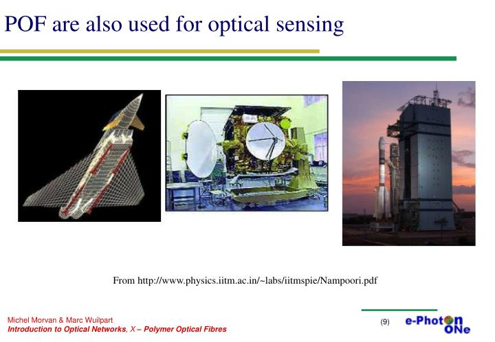 POF are also used for optical sensing