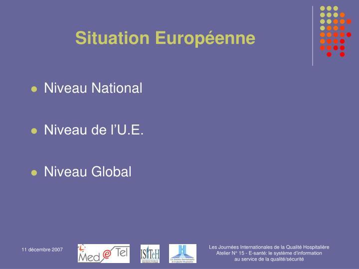 Situation Européenne