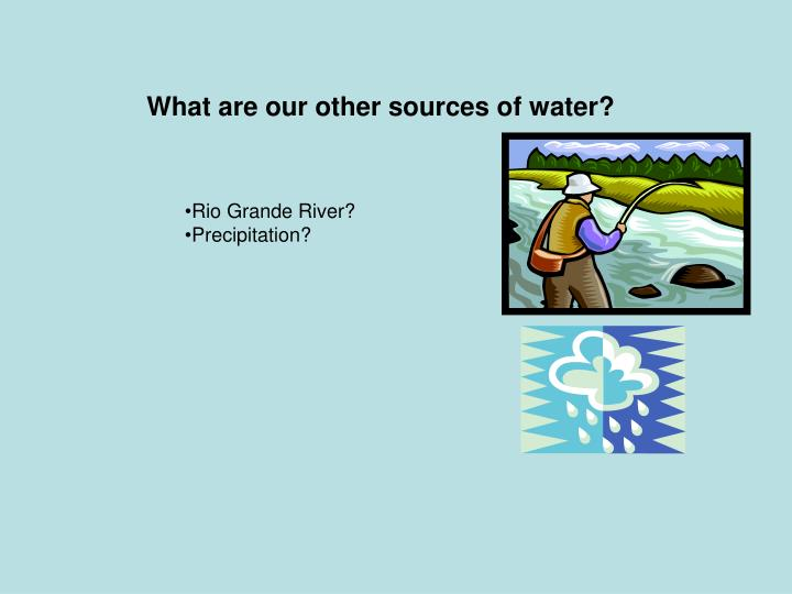 What are our other sources of water?
