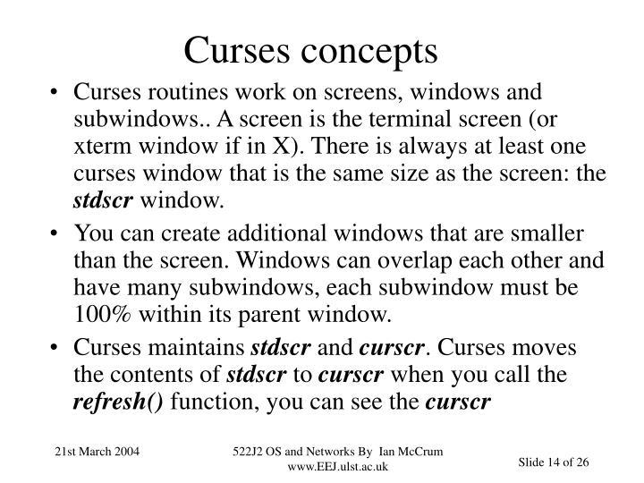 Curses concepts