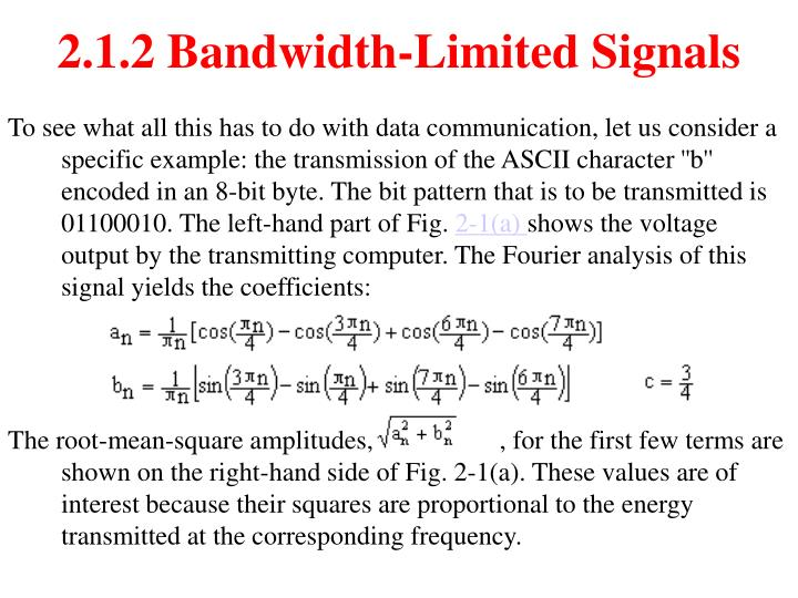 2.1.2 Bandwidth-Limited Signals