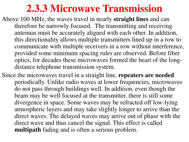 2.3.3 Microwave Transmission