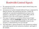 bandwidth limited signals2
