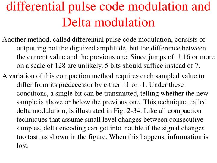 differential pulse code modulation and