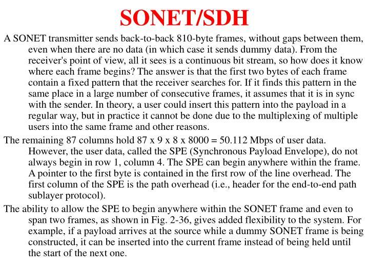 SONET/SDH