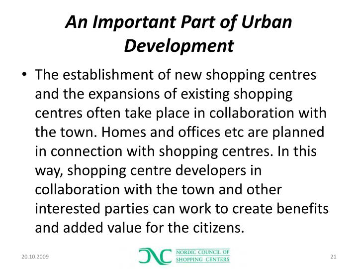 An Important Part of Urban Development