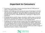 important to consumers