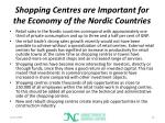 shopping centres are important for the economy of the nordic countries