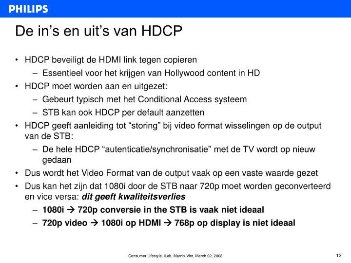 De in's en uit's van HDCP