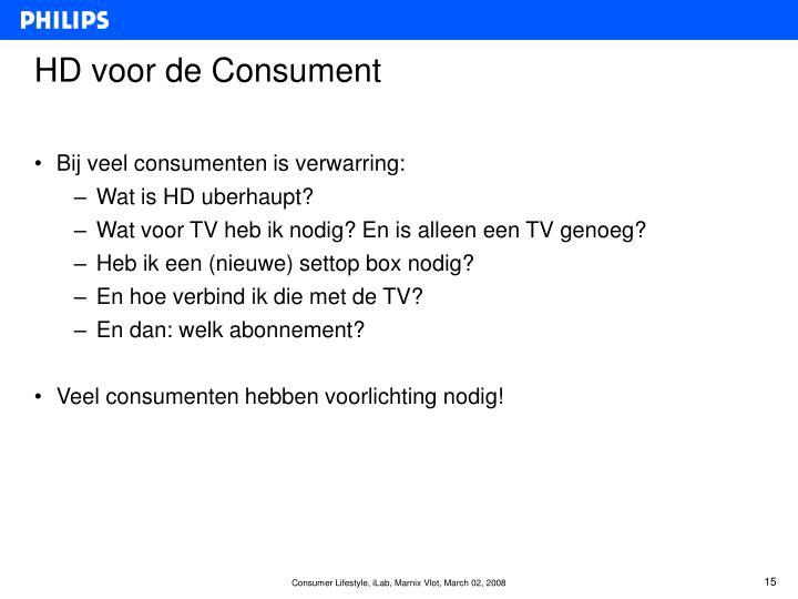 HD voor de Consument
