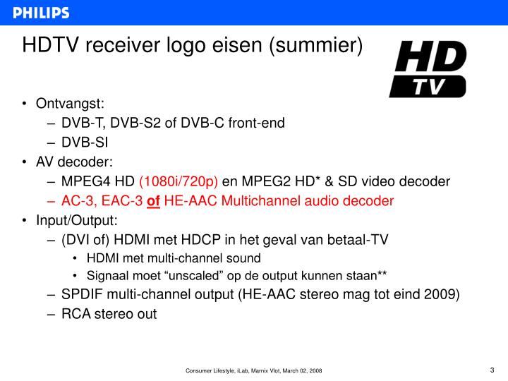 HDTV receiver logo eisen (summier)