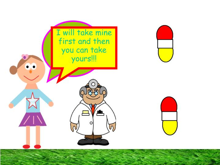 I really want to get my memory back, you take one capsule and I'll take the other, then we will swallow it!!!