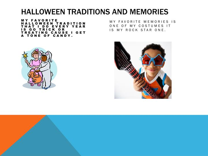 Halloween traditions and memories