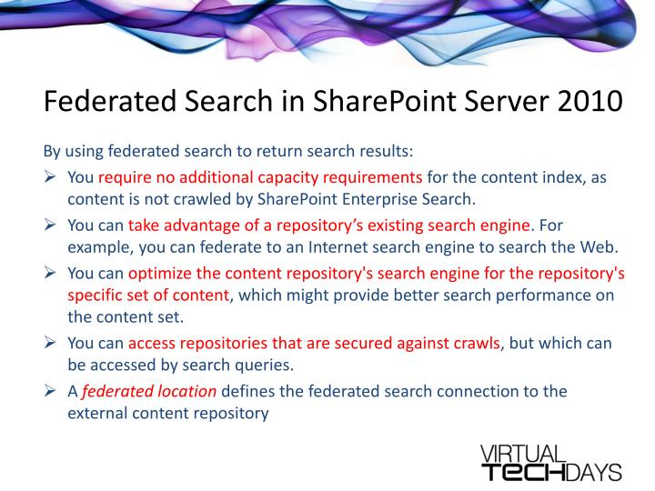 Federated Search in SharePoint Server 2010