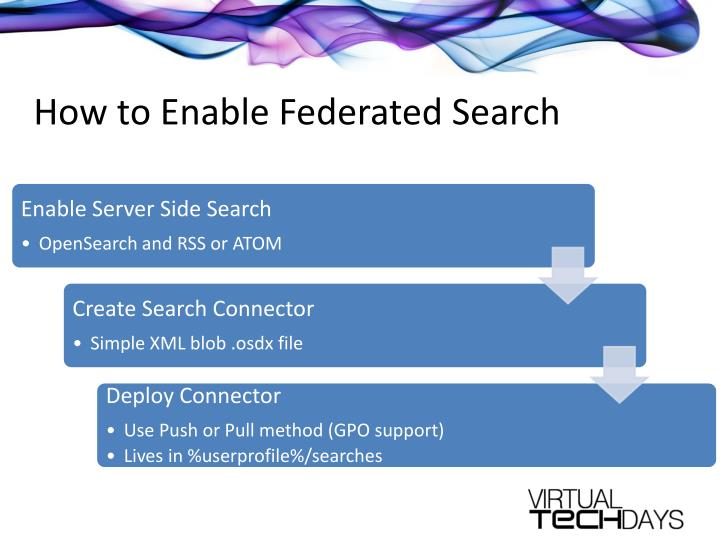 How to Enable Federated Search