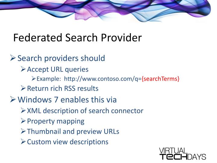 Federated Search Provider