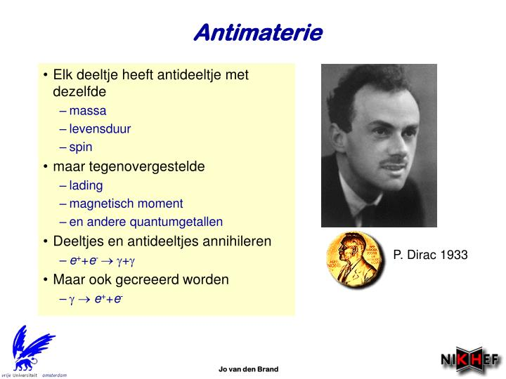 P. Dirac 1933