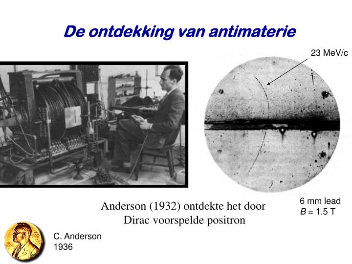 De ontdekking van antimaterie