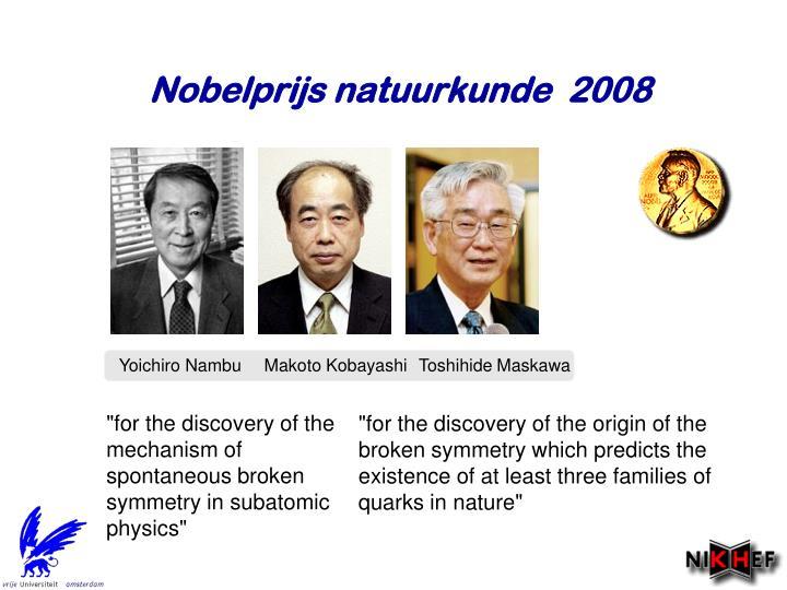 Nobelprijs natuurkunde  2008