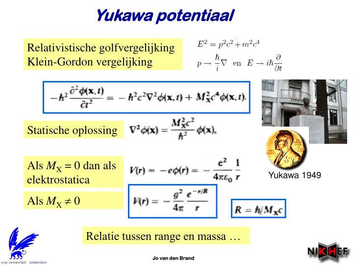 Yukawa potentiaal
