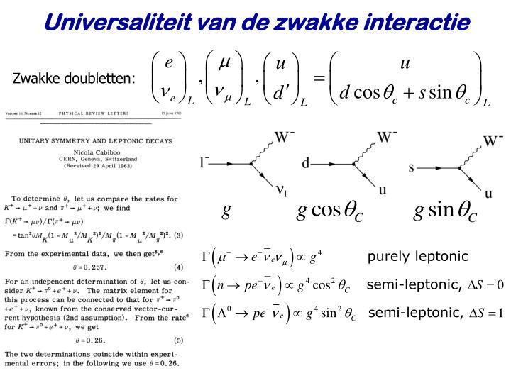 Universaliteit van de zwakke interactie