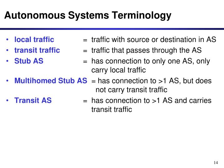 Autonomous Systems Terminology