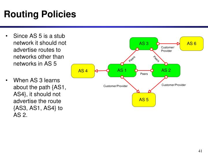 Routing Policies