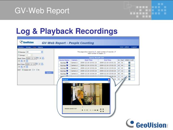 GV-Web Report