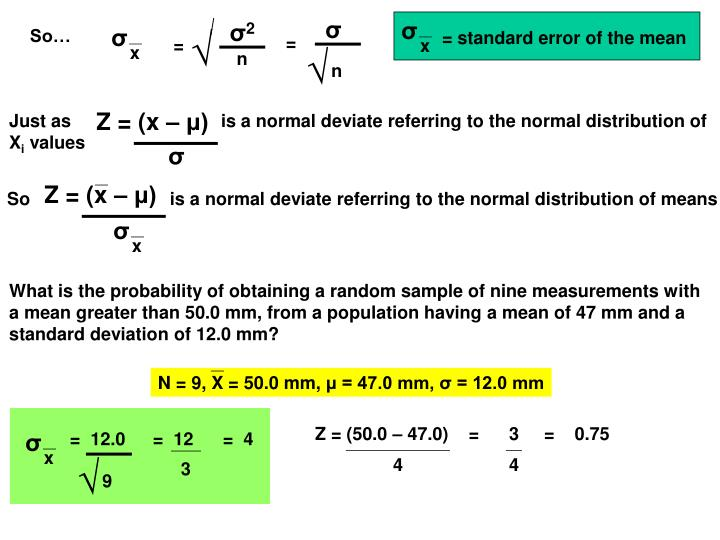 Just as                              is a normal deviate referring to the normal distribution of X