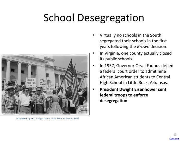 Protesters against integration in Little Rock, Arkansas, 1959