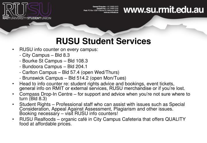 RUSU Student Services