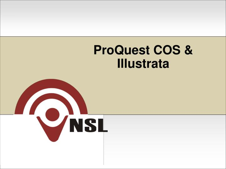Proquest cos illustrata