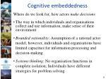 cognitive embeddedness