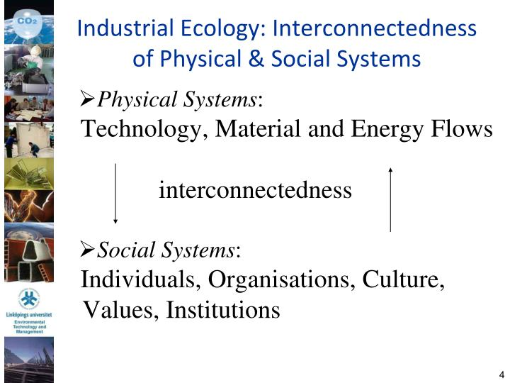 Industrial Ecology: Interconnectedness of Physical & Social Systems