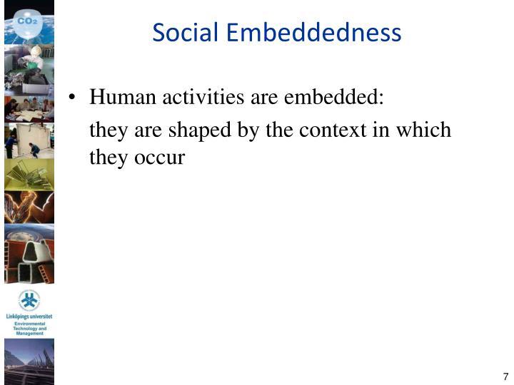 Social Embeddedness