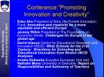 c onference promoting innovation and creativity