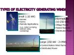 types of electricity generating windmills
