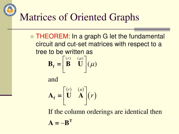 Matrices of Oriented Graphs
