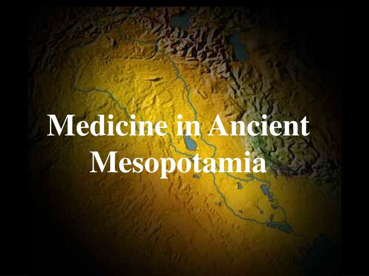 Medicine in ancient mesopotamia
