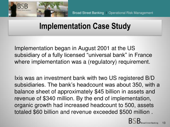 Implementation Case Study