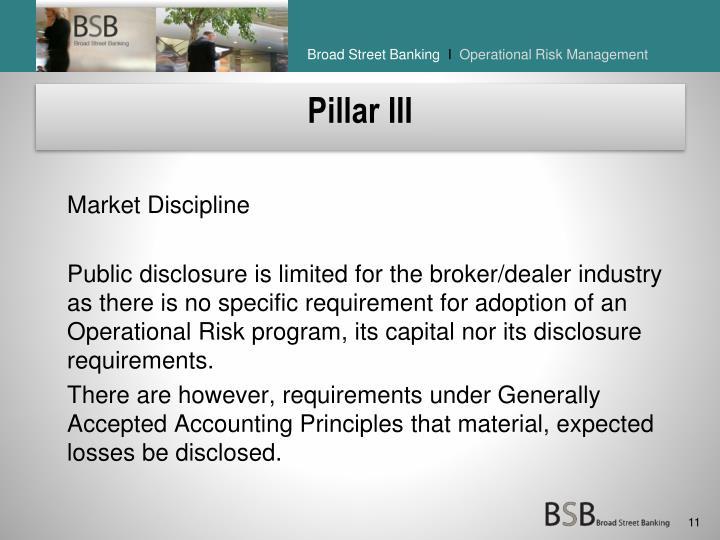 Pillar III