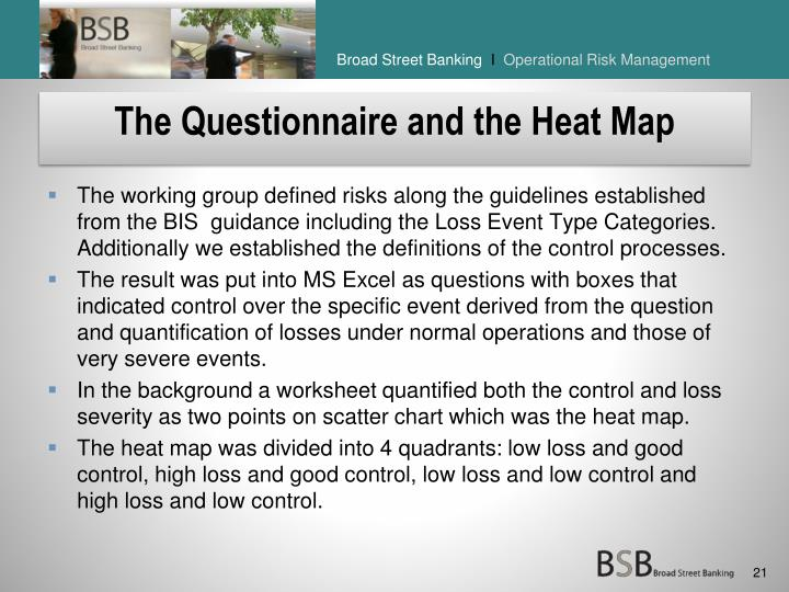 The Questionnaire and the Heat Map