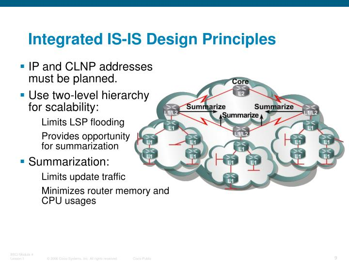 Integrated IS-IS Design Principles