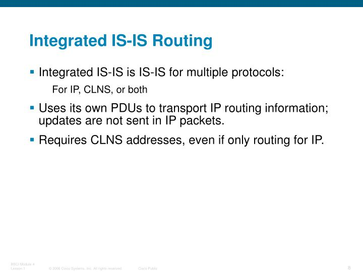 Integrated IS-IS Routing