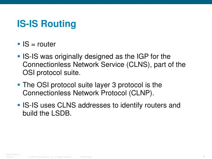 IS-IS Routing