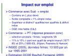 impact sur emploi