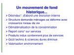 un mouvement de fond historique