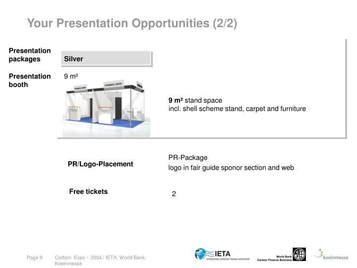 Your Presentation Opportunities